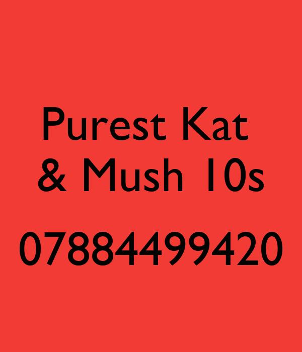 Purest Kat  & Mush 10s  07884499420