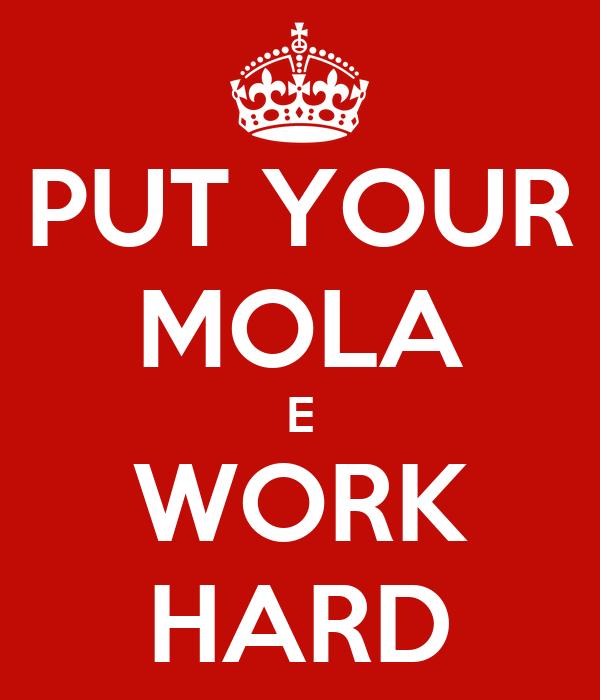 PUT YOUR MOLA E WORK HARD