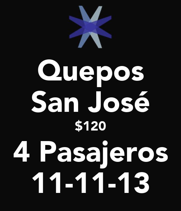 Quepos San José $120 4 Pasajeros 11-11-13