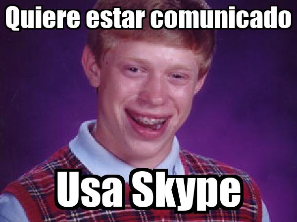 Quiere estar comunicado Usa Skype