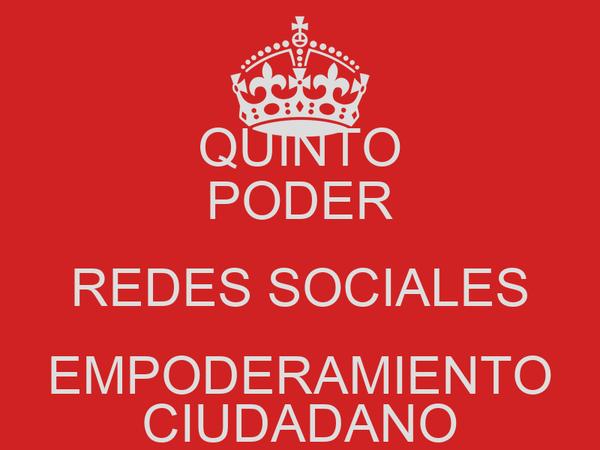 QUINTO PODER REDES SOCIALES EMPODERAMIENTO CIUDADANO