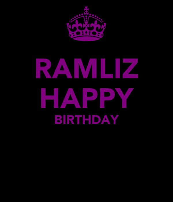 RAMLIZ HAPPY BIRTHDAY