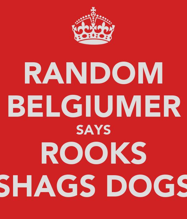 RANDOM BELGIUMER SAYS ROOKS SHAGS DOGS