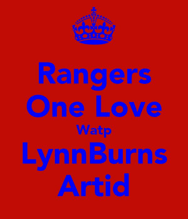 Rangers One Love Watp LynnBurns Artid