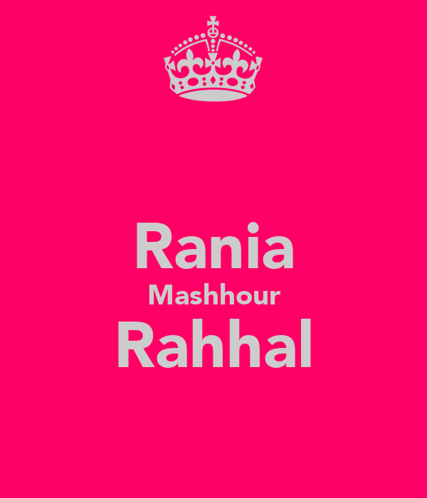 Rania Mashhour Rahhal