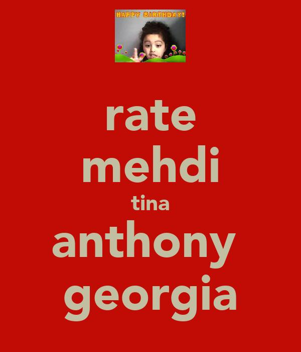 rate mehdi tina anthony  georgia