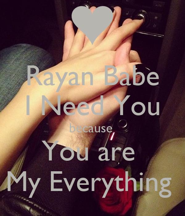 Babe I Need You
