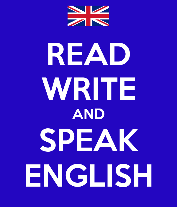 read and write the english