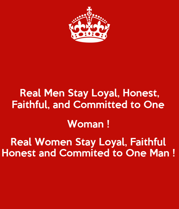 A Man Woman To A Commits When