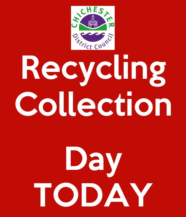 Recycling Collection  Day TODAY