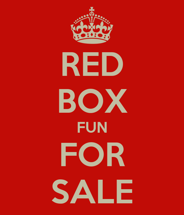 RED BOX FUN FOR SALE