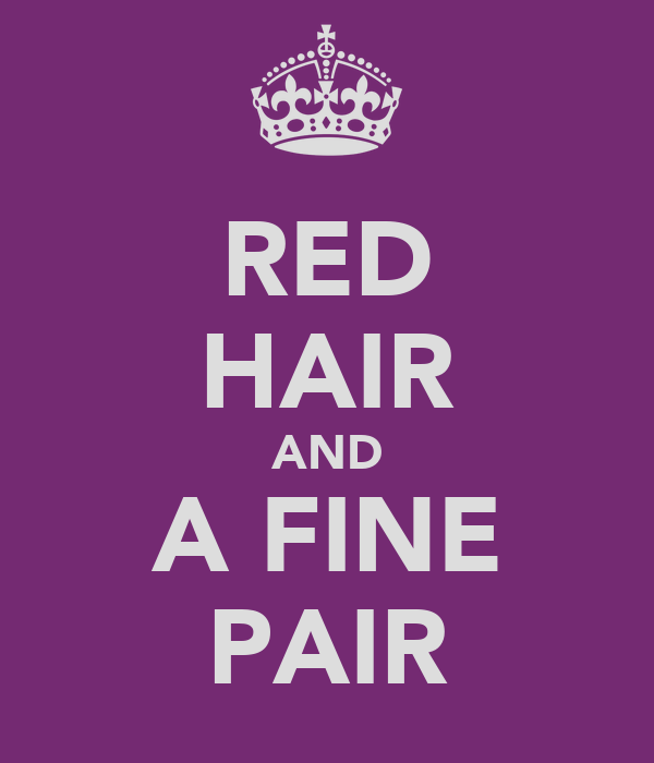 RED HAIR AND A FINE PAIR