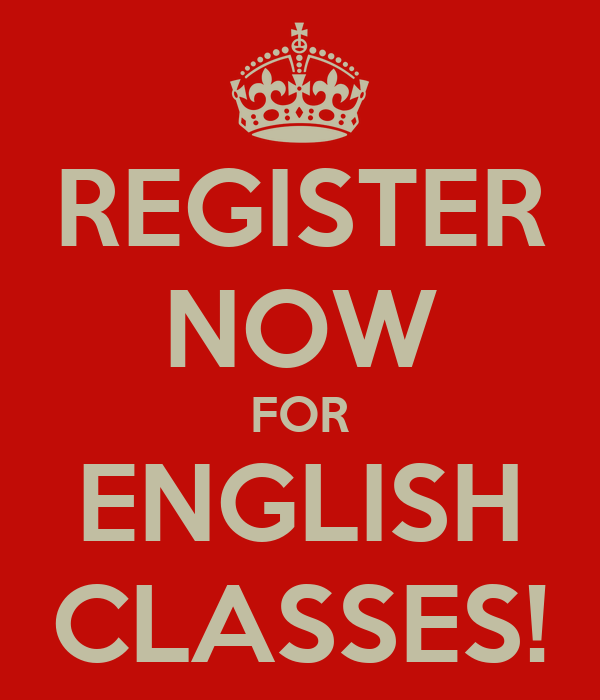 REGISTER NOW FOR ENGLISH CLASSES!