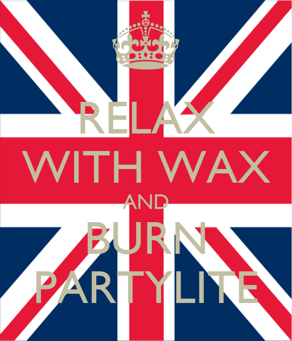 RELAX WITH WAX AND BURN PARTYLITE