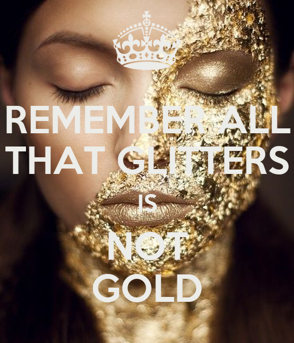 essay of all that glitters is not gold