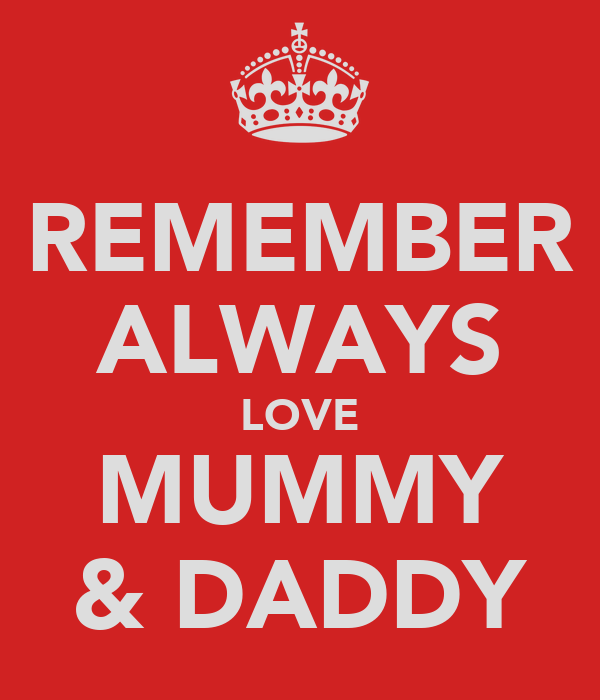 REMEMBER ALWAYS LOVE MUMMY & DADDY