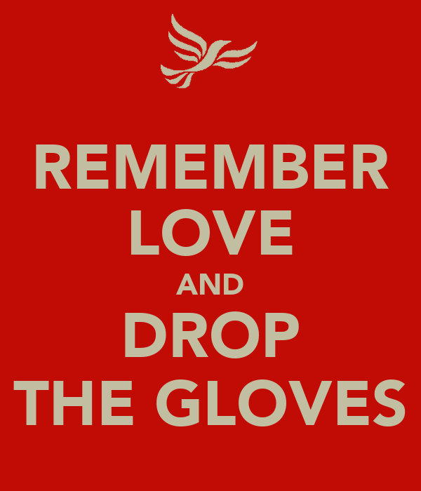 REMEMBER LOVE AND DROP THE GLOVES