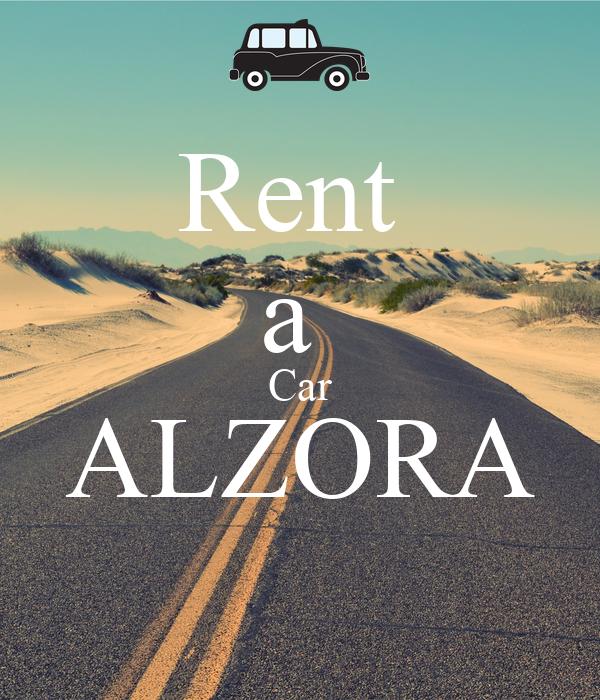 rent a car alzora poster edimatoshi keep calm o matic. Black Bedroom Furniture Sets. Home Design Ideas