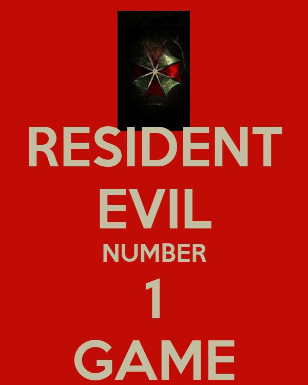 RESIDENT EVIL NUMBER 1 GAME