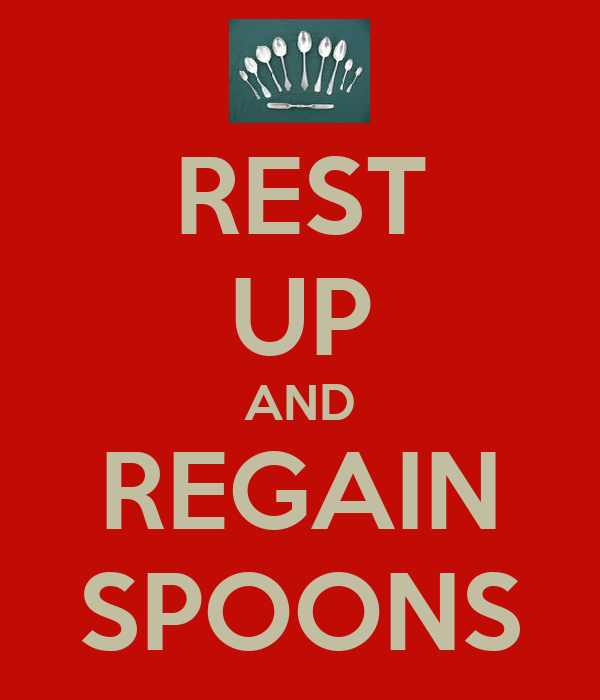 REST UP AND REGAIN SPOONS