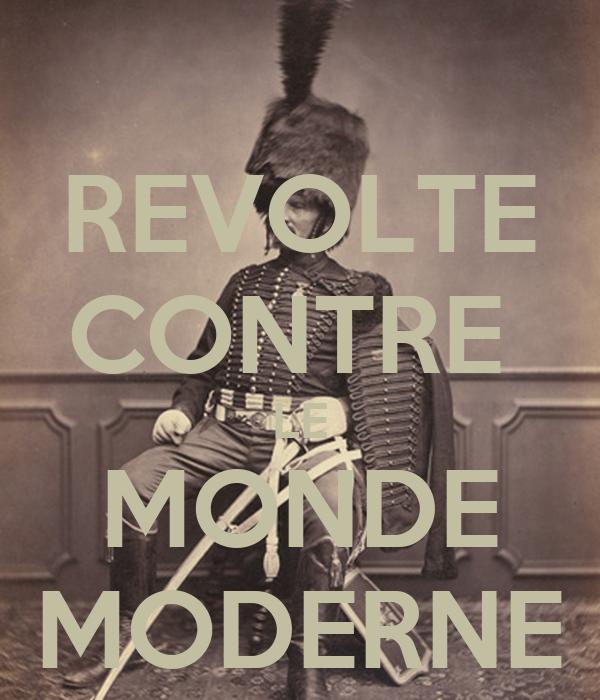 revolte contre le monde moderne poster thibalec keep. Black Bedroom Furniture Sets. Home Design Ideas
