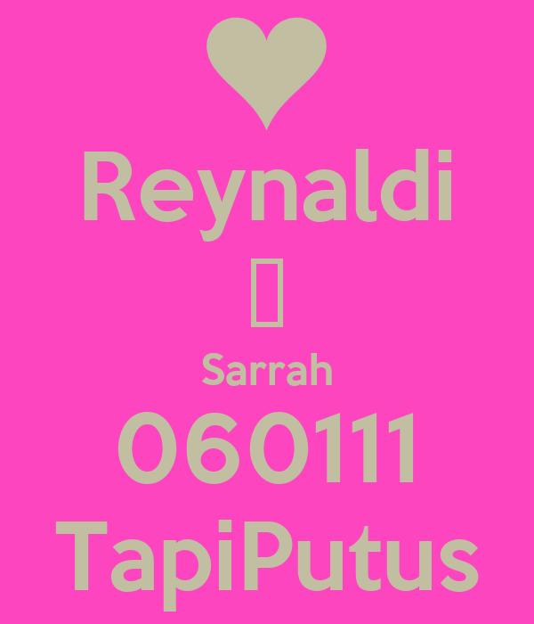 Reynaldi ❤ Sarrah 060111 TapiPutus