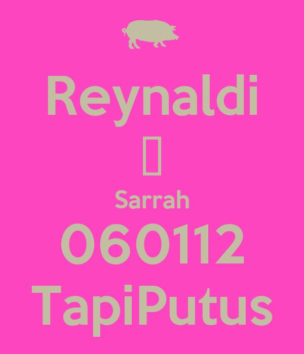 Reynaldi ❤ Sarrah 060112 TapiPutus