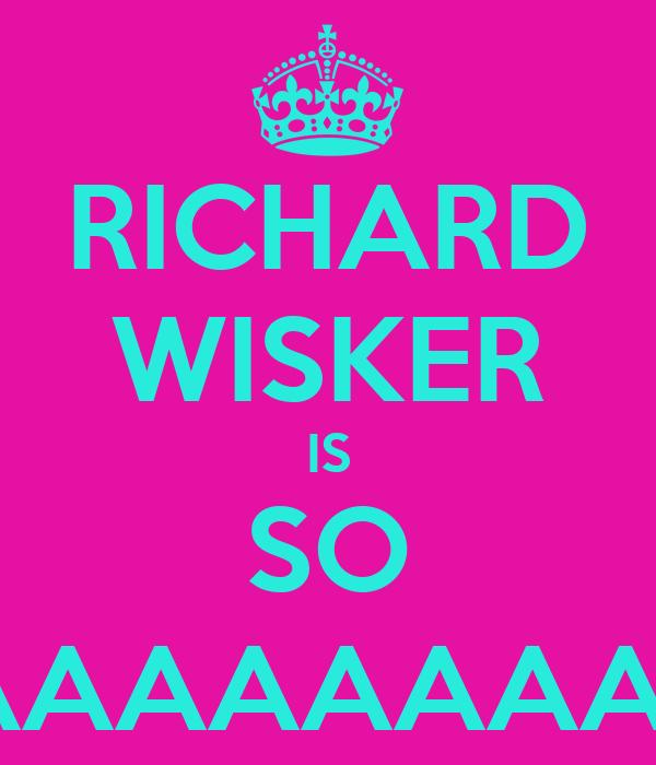 RICHARD WISKER IS SO $EXAAAAAAAAAAY