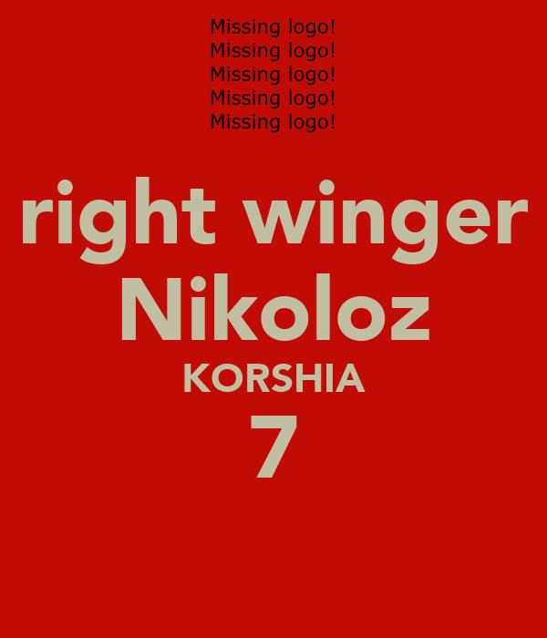 right winger Nikoloz KORSHIA 7