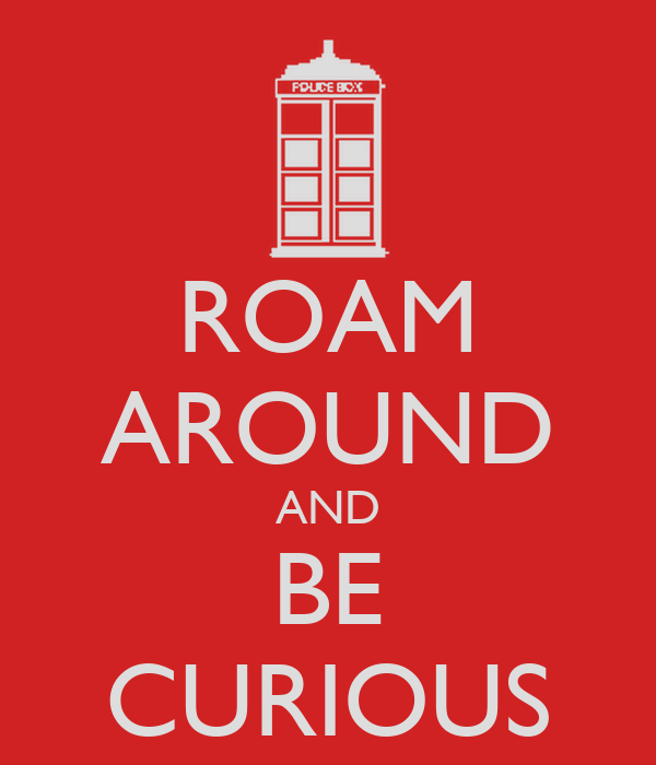 ROAM AROUND AND BE CURIOUS