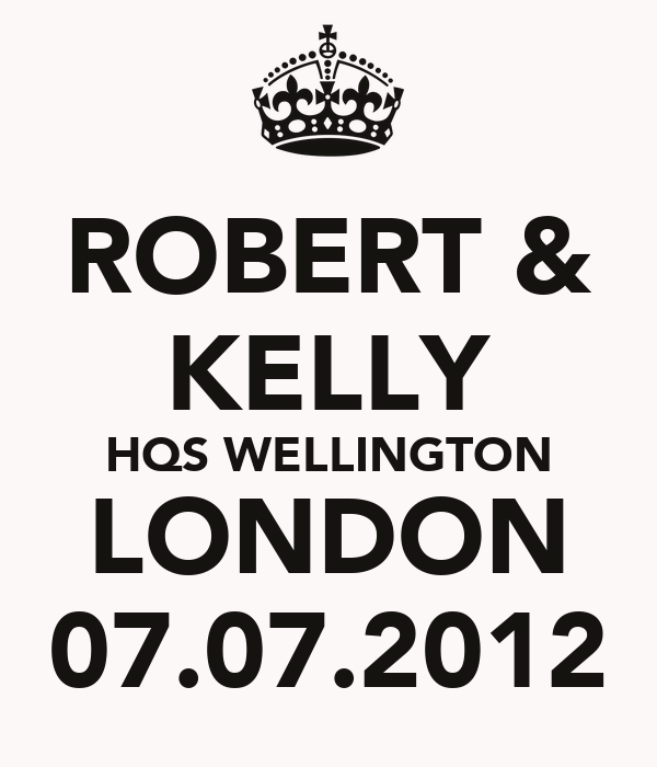 ROBERT & KELLY HQS WELLINGTON LONDON 07.07.2012