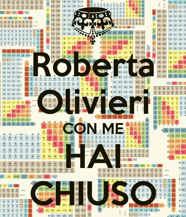 Roberta Olivieri CON ME HAI CHIUSO