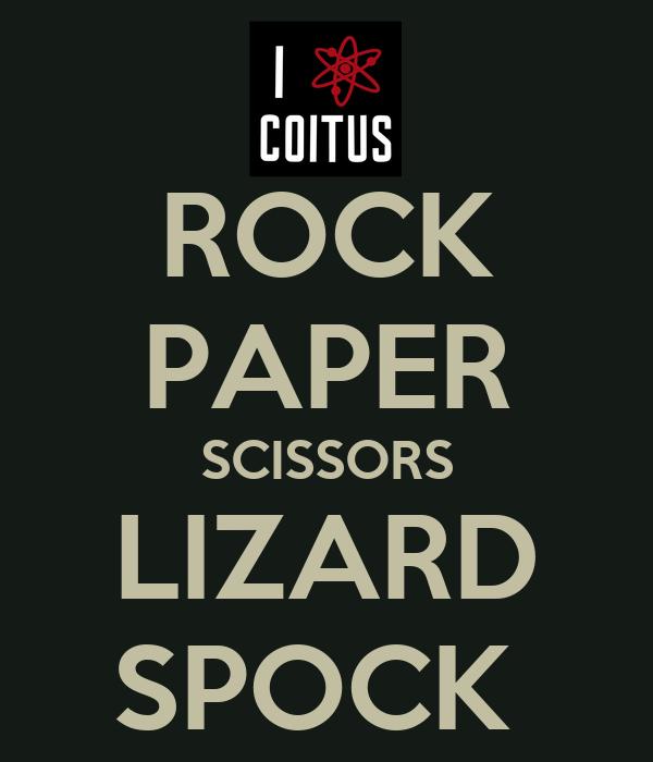 rock paper scissor lizard spock