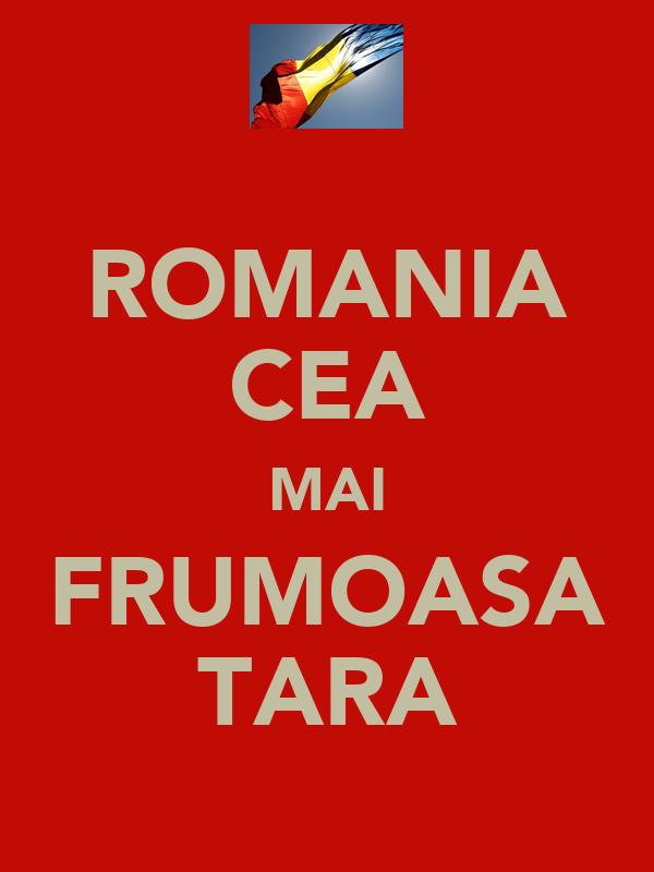 ROMANIA CEA MAI FRUMOASA TARA