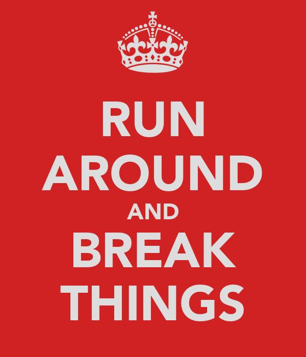 RUN AROUND AND BREAK THINGS