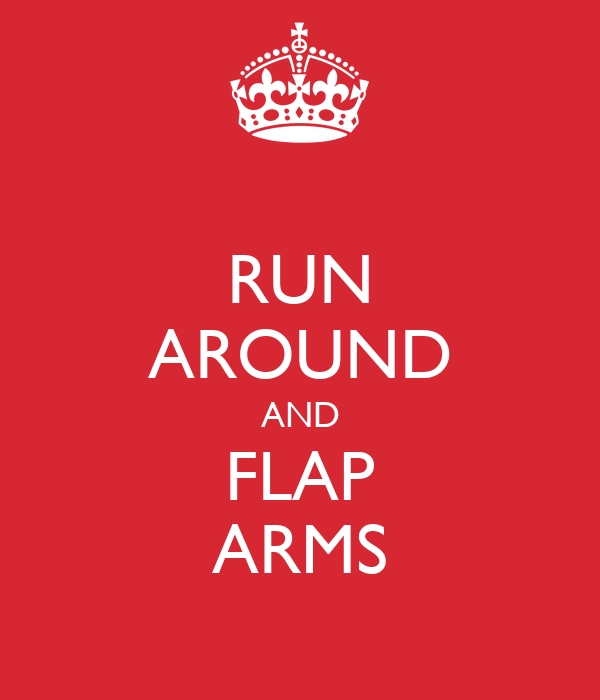 RUN AROUND AND FLAP ARMS
