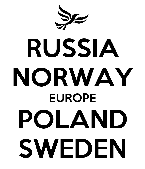 RUSSIA NORWAY EUROPE POLAND SWEDEN