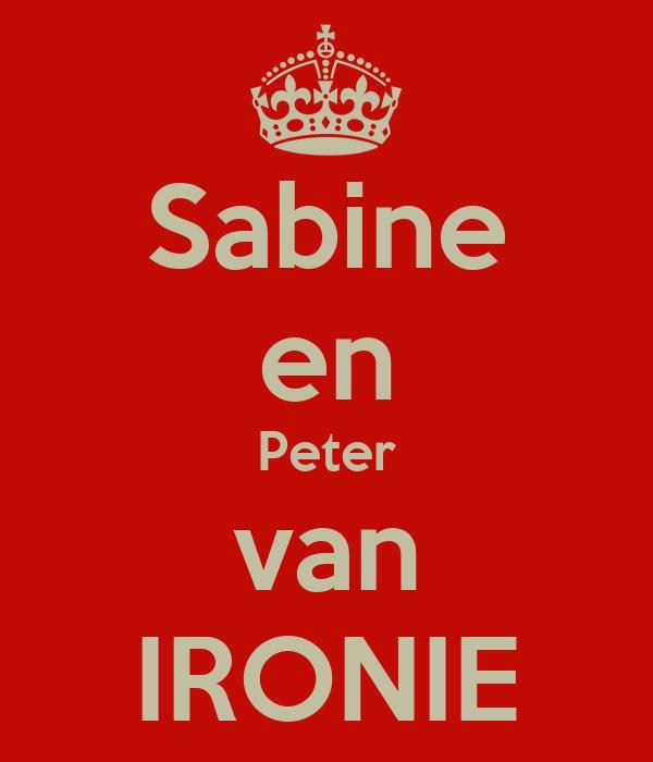 Sabine en Peter van IRONIE
