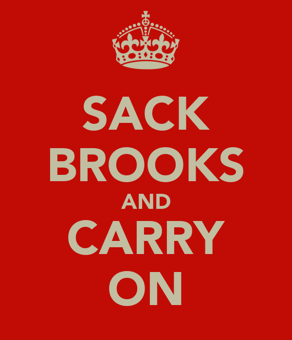 SACK BROOKS AND CARRY ON