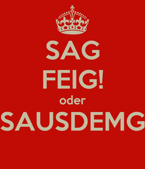 SAG FEIG! oder RAUSAUSDEMGRAU
