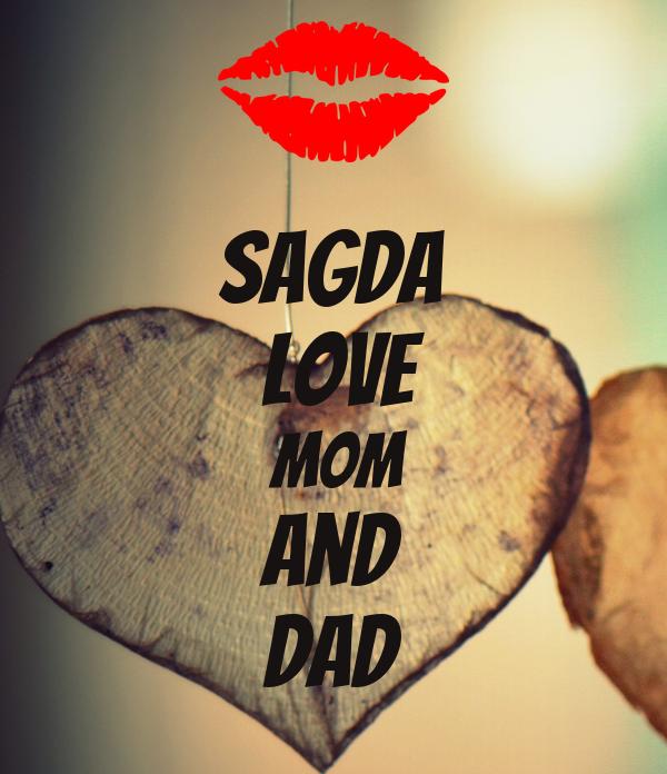 sagda  love  mom and dad