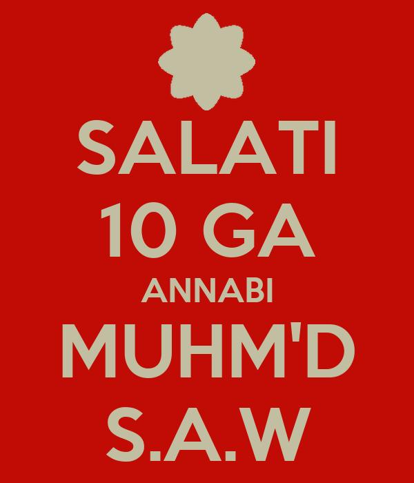 SALATI 10 GA ANNABI MUHM'D S.A.W