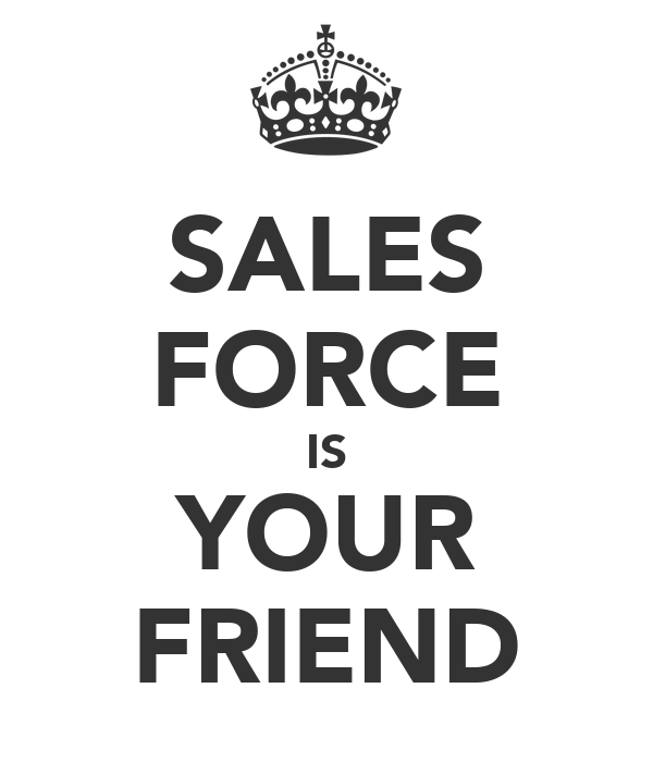 SALES FORCE IS YOUR FRIEND