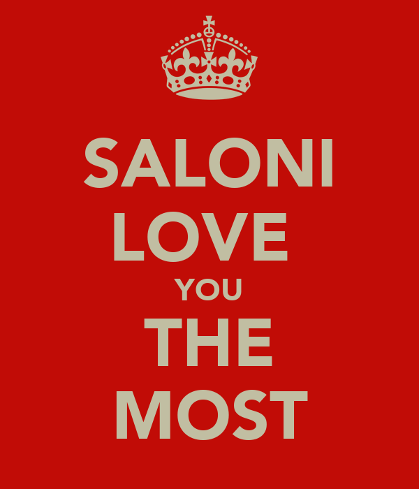 SALONI LOVE  YOU THE MOST