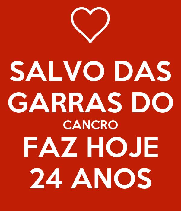SALVO DAS GARRAS DO CANCRO FAZ HOJE 24 ANOS
