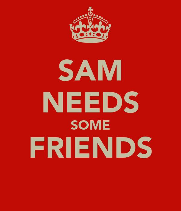 SAM NEEDS SOME FRIENDS