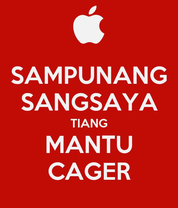 SAMPUNANG SANGSAYA TIANG MANTU CAGER