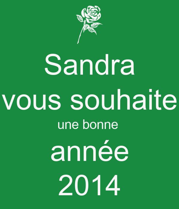 Sandra  vous souhaite  une bonne  année 2014