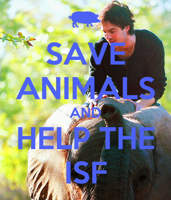 SAVE ANIMALS AND HELP THE ISF