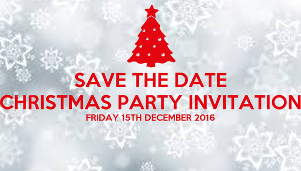 save the date christmas party invitation friday 15th december 2016